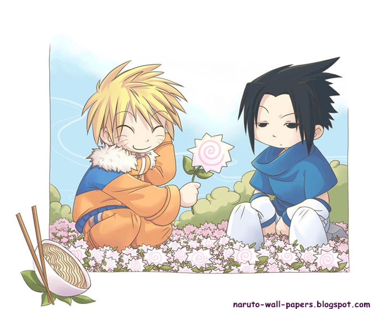 Naruto And Bleach Anime Wallpapers Cute Team Kakashi Chibi Naruto Pix 1205x995