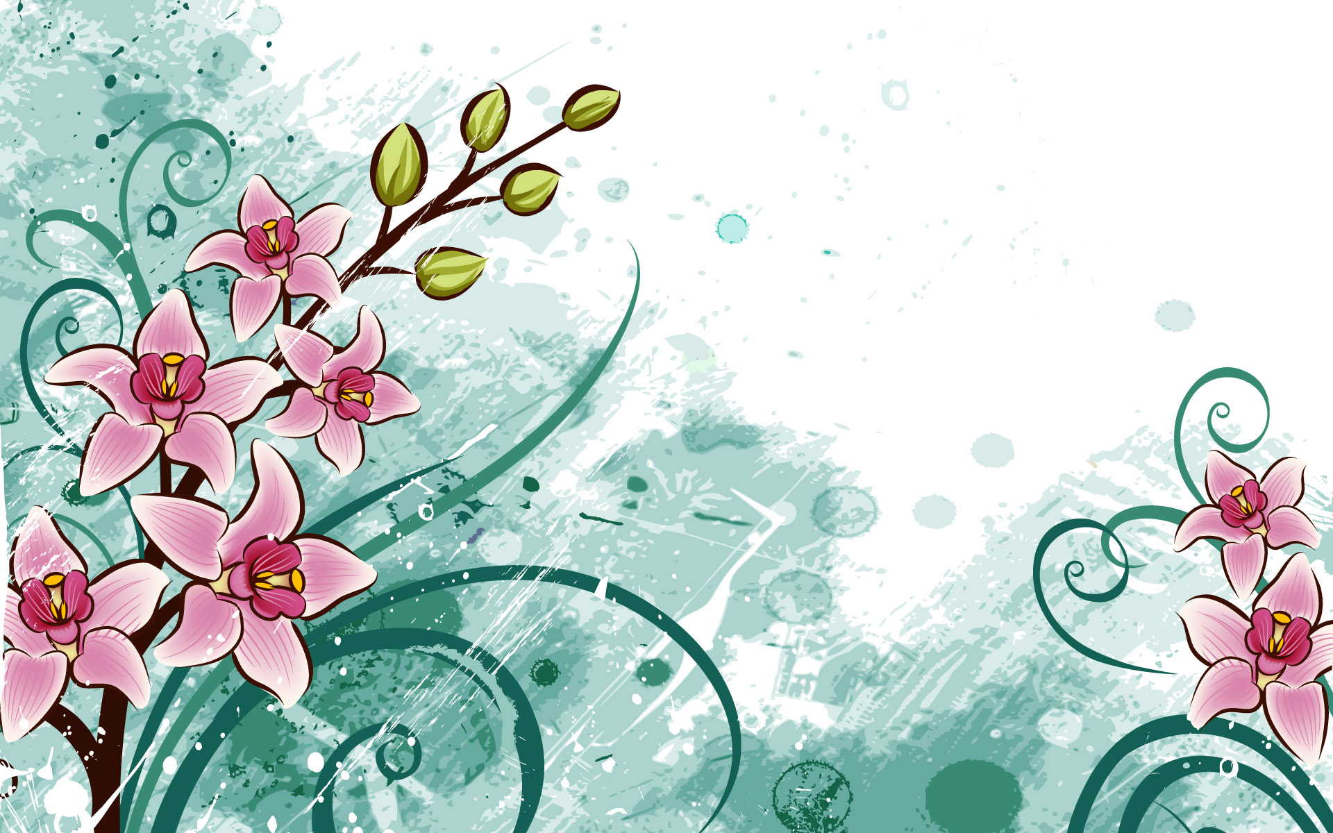 Designs Wallpapers Art Images HD Wallpapers flowers n birds 1920x1200