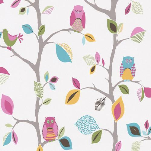 This designcomes with Owls and birds on the branches of a tree design 500x500