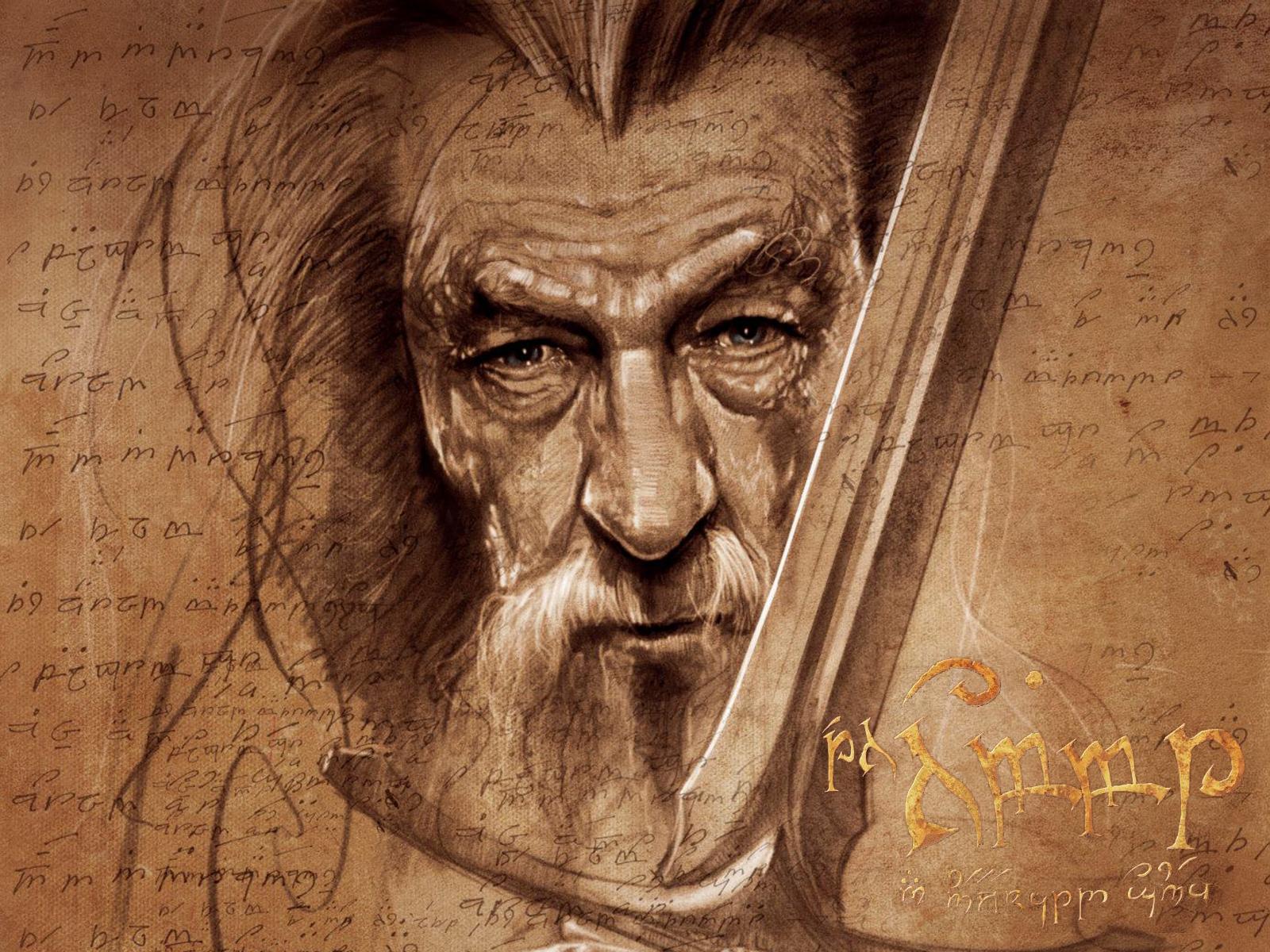 netthe hobbit gandalf artwork wallpapers 35442 1600x1200jpg 1600x1200