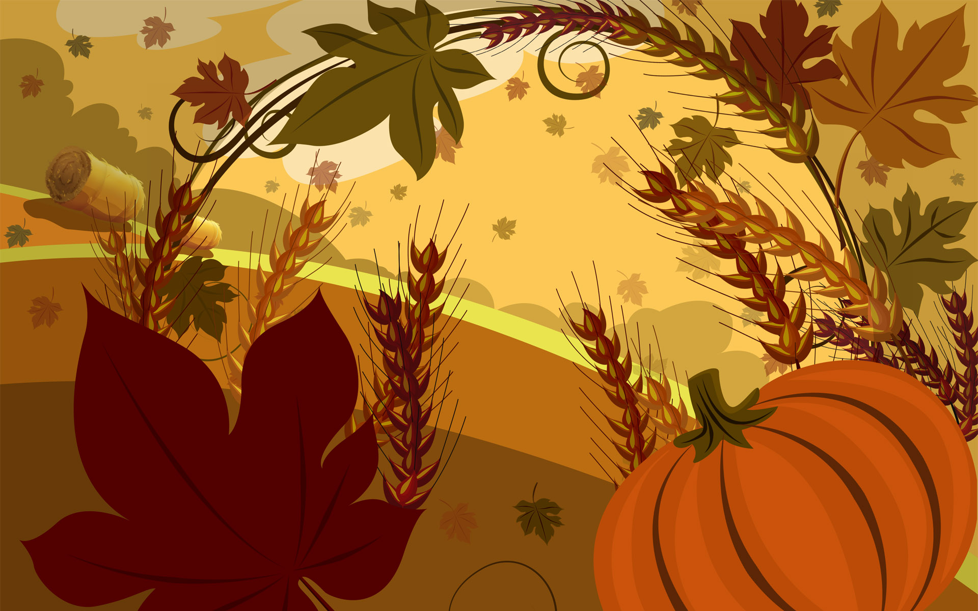 Thanksgiving Backgrounds 1920x1200