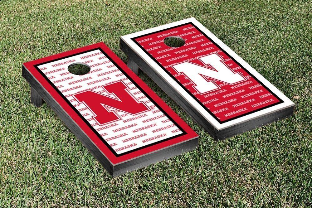 Nebraska Cornhuskers Repeat Logo Wallpaper Cornhole Set Sports 1000x667