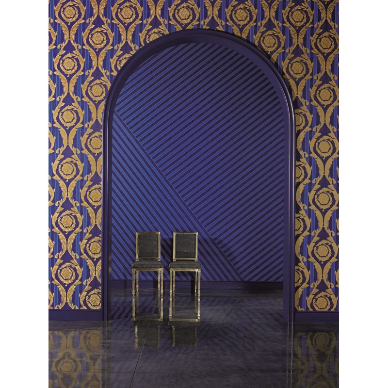 Royal Blue And Gold Wallpaper Stripes royal blue gold 800x800