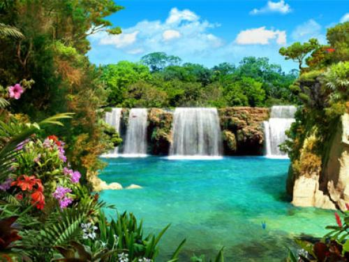 Download 3D Waterfalls Wallpaper and Backgrounds 500x375