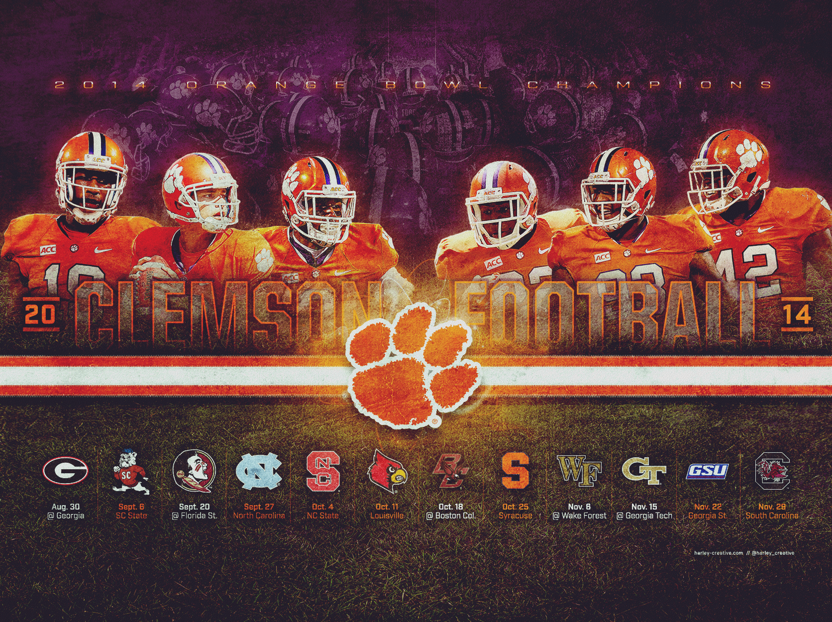 Football Wallpaper Clemson Tigers Boston College Pictures 1672x1250