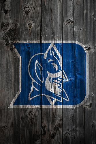 Duke Blue Devils Wood iPhone 4 Background 333x500