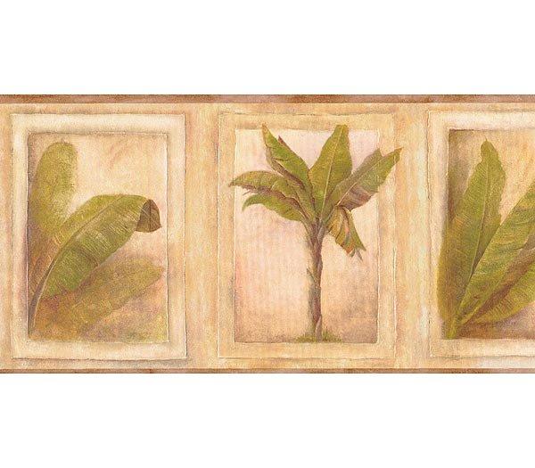 Tropical Palm Wallpaper Border 600x525