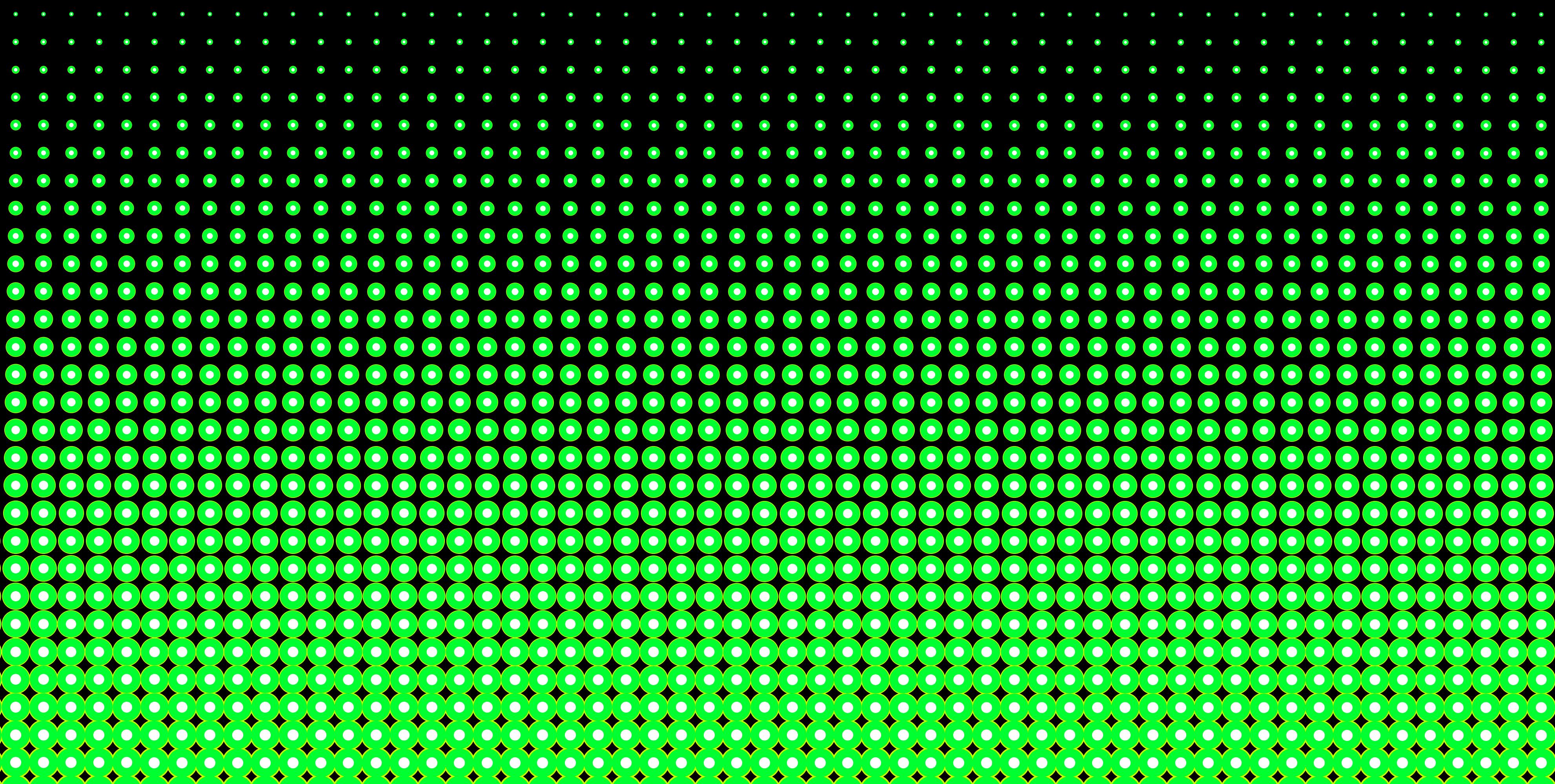 Neon Green and Black Halftone Pattern   Clip Art 3964x2000