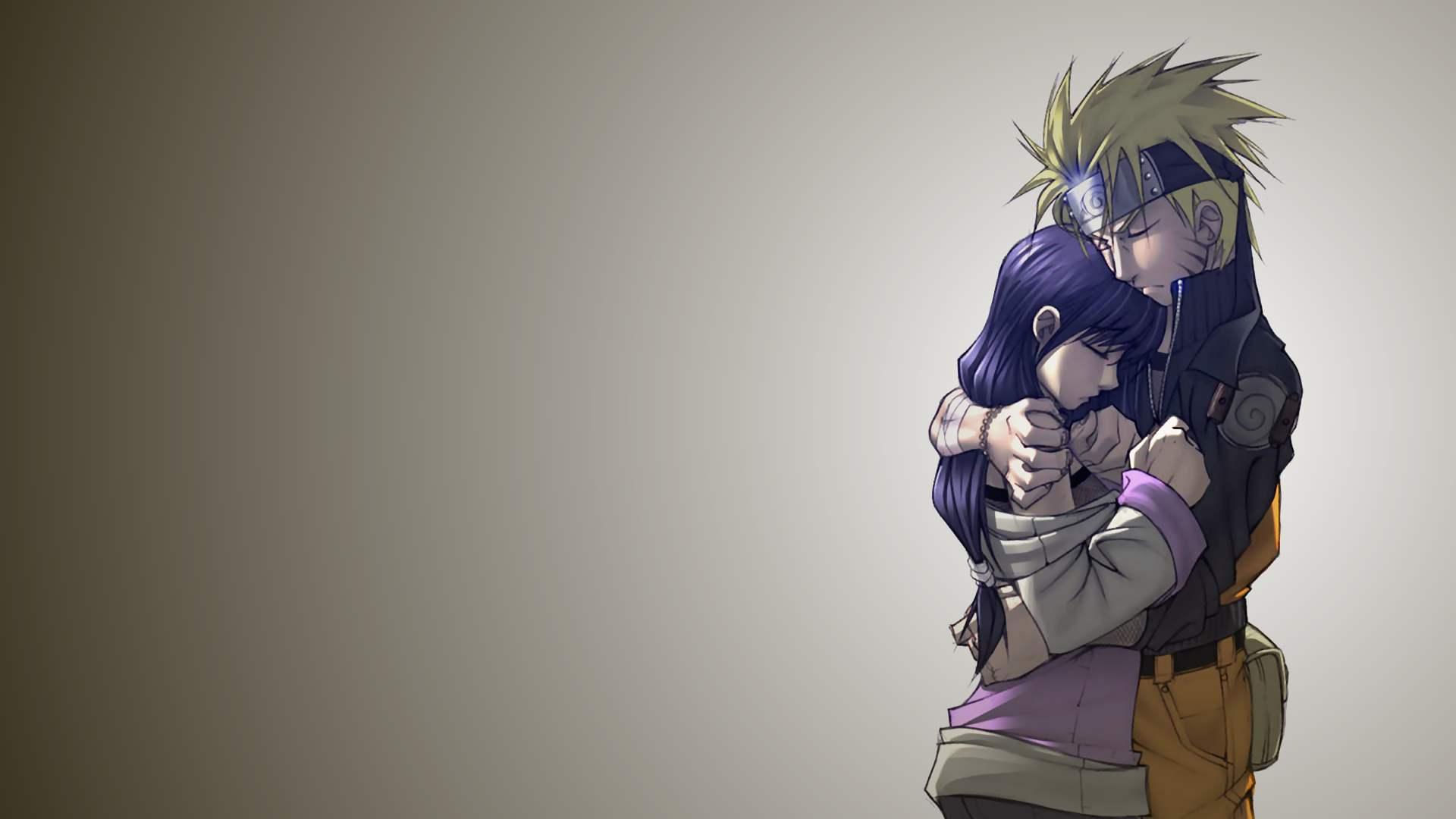 Download the Naruto anime wallpaper titled Naruto and Hinata 1920x1080