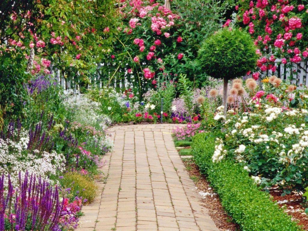 Flower Garden Background   Modern Wood Interior   Home 1024x768