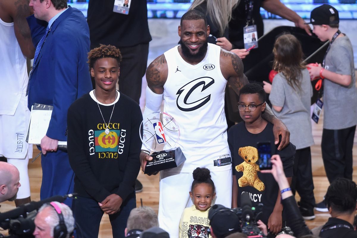 LeBron James son is a 13 year old superstar Meet Bronny James 1200x800