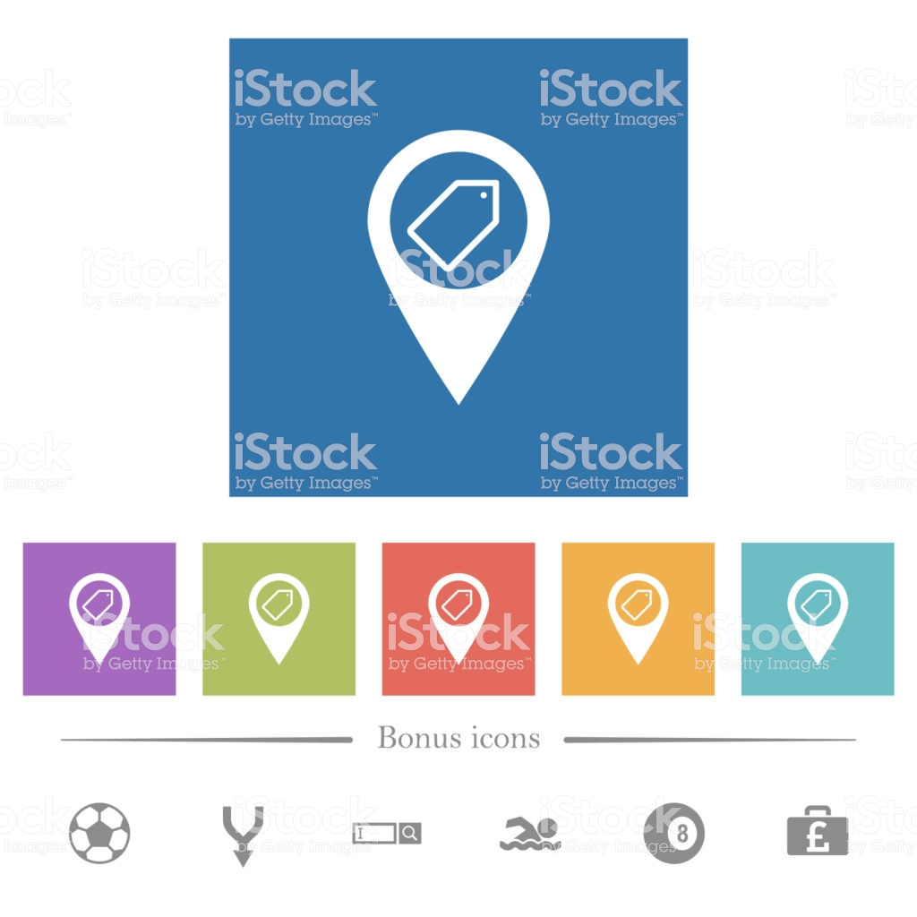 Tagging Gps Map Location Flat White Icons In Square Backgrounds 1024x1024
