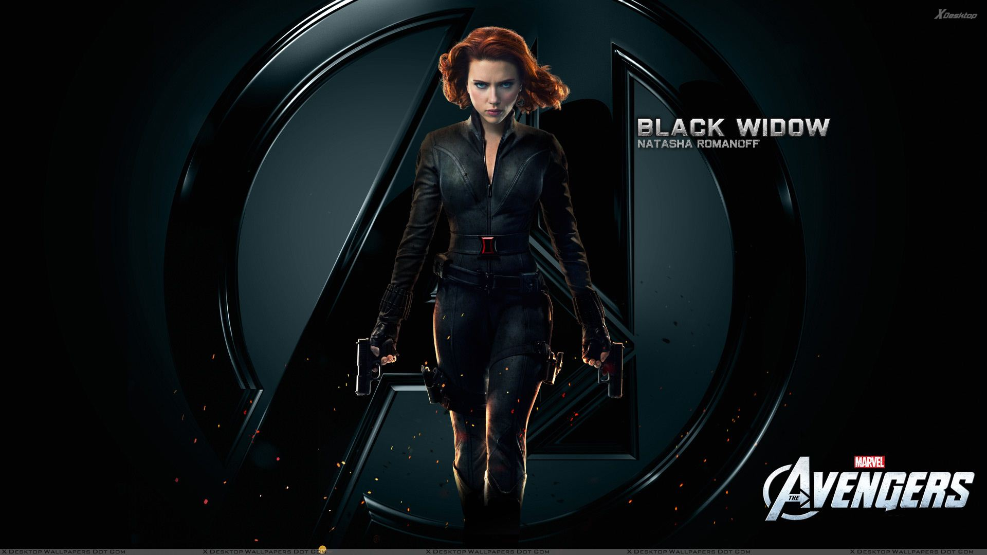 The Avengers Scarlett Johansson Black Widow Wallpaper 1920x1080