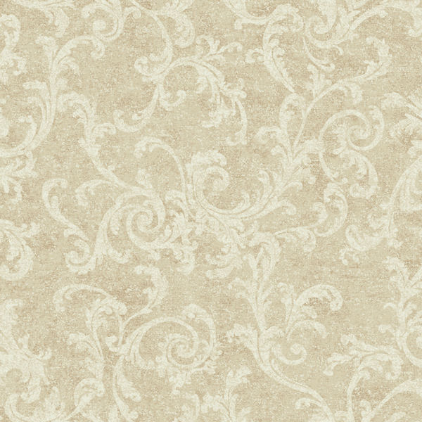 Beige and White Textured Scroll Wallpaper   Wall Sticker Outlet 600x600
