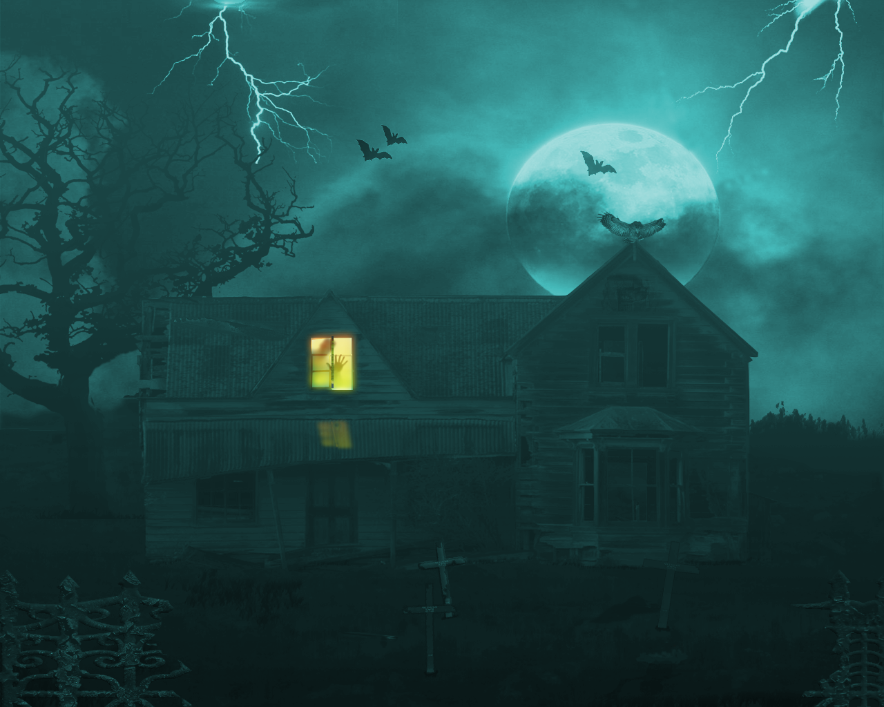 Haunted House Wallpaper Animated Haunted house wallpaper 1280x1024