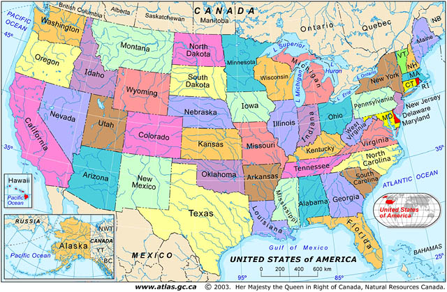 Map Of Canada And USA Map Of US And Canada Map Of Canada And Us
