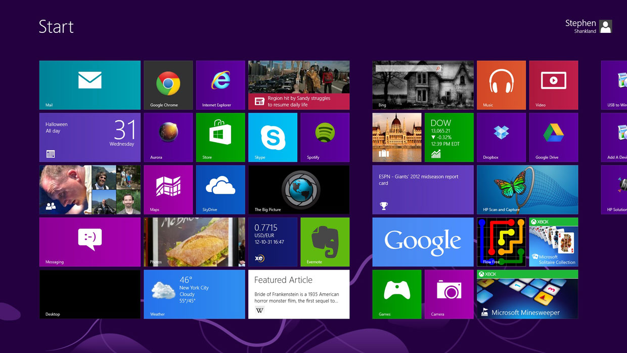 Apps for Windows 8 across most of their apps including News Finance 1240x698