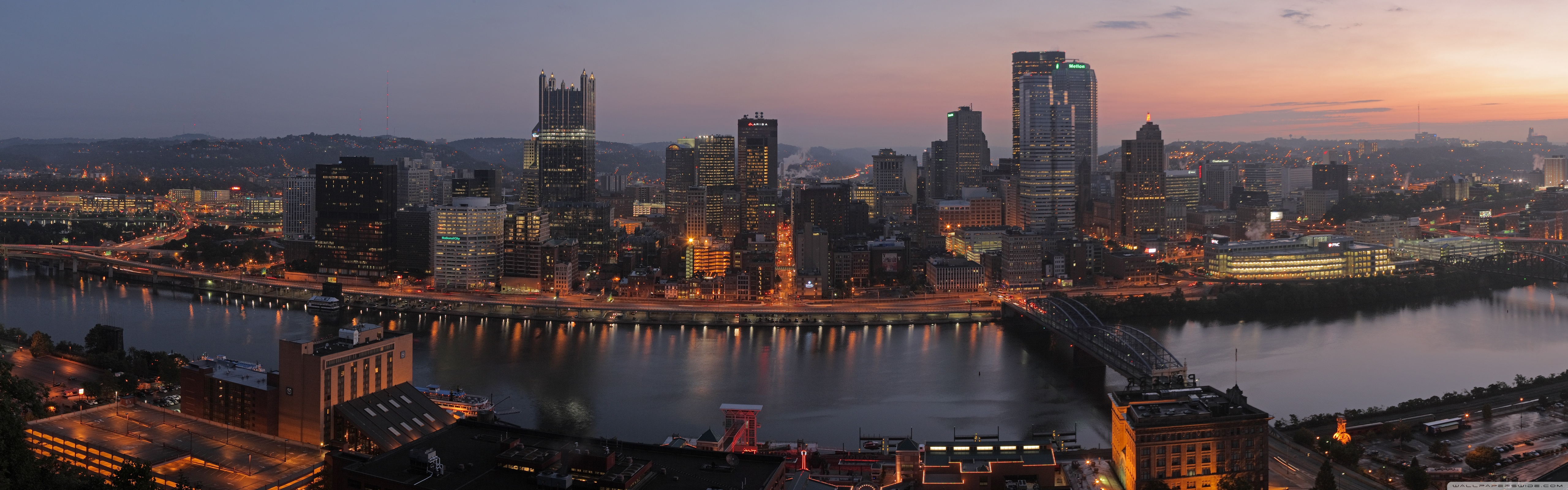 Pittsburgh Panorama 4K HD Desktop Wallpaper for 4K Ultra HD TV 5120x1600