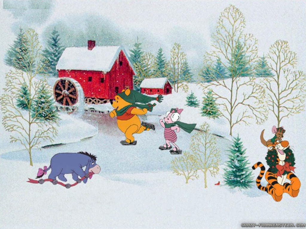Wallpaper: Winnie the pooh Christmas wallpapers