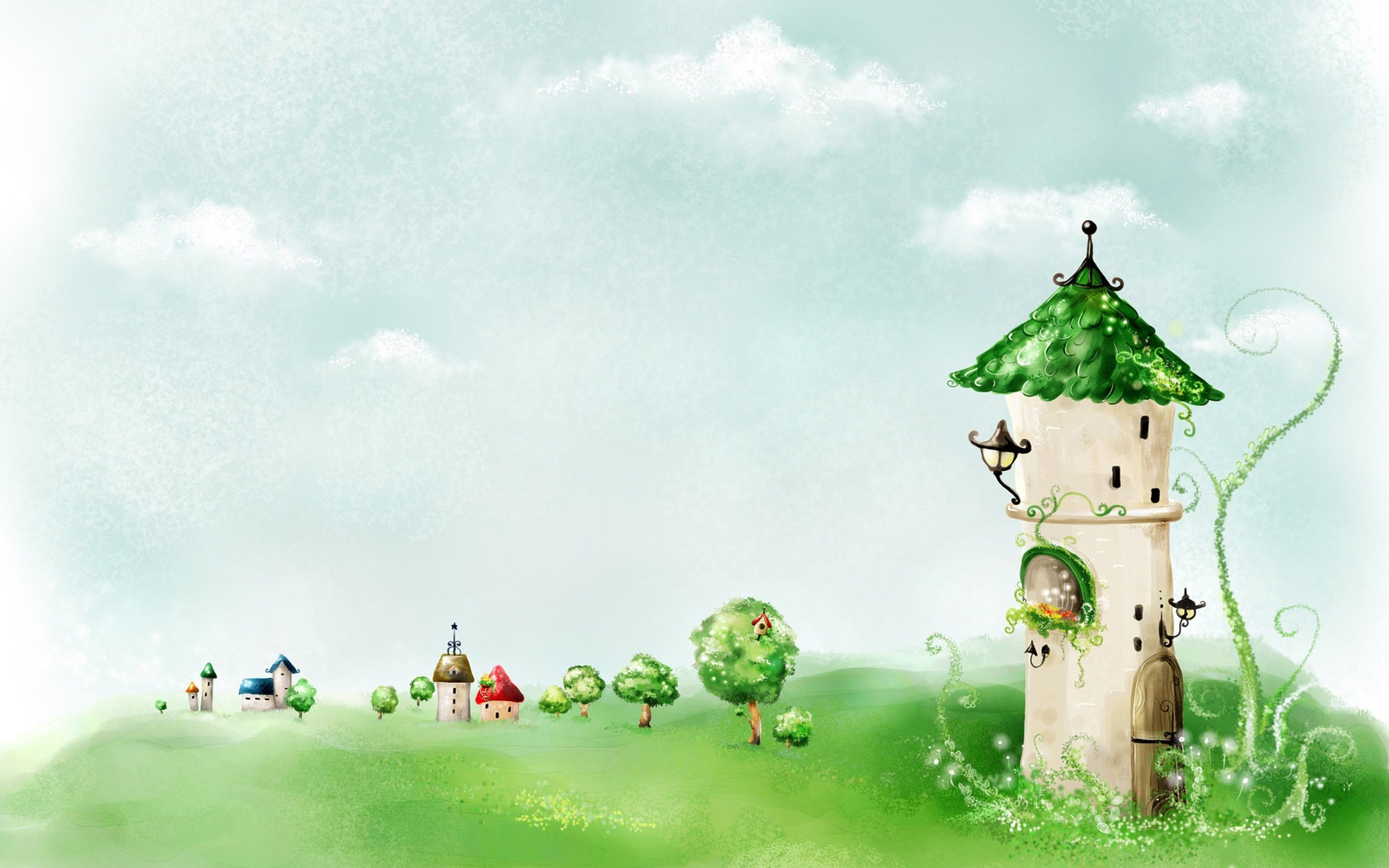 Fairy tale tower wallpaper 1527 1680x1050