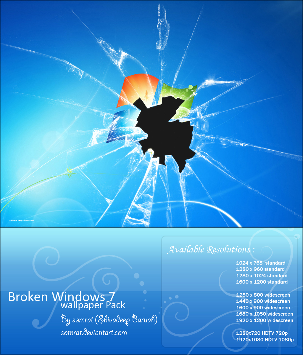 Broken Screen Wallpaper: Windows Broken Screen Wallpaper