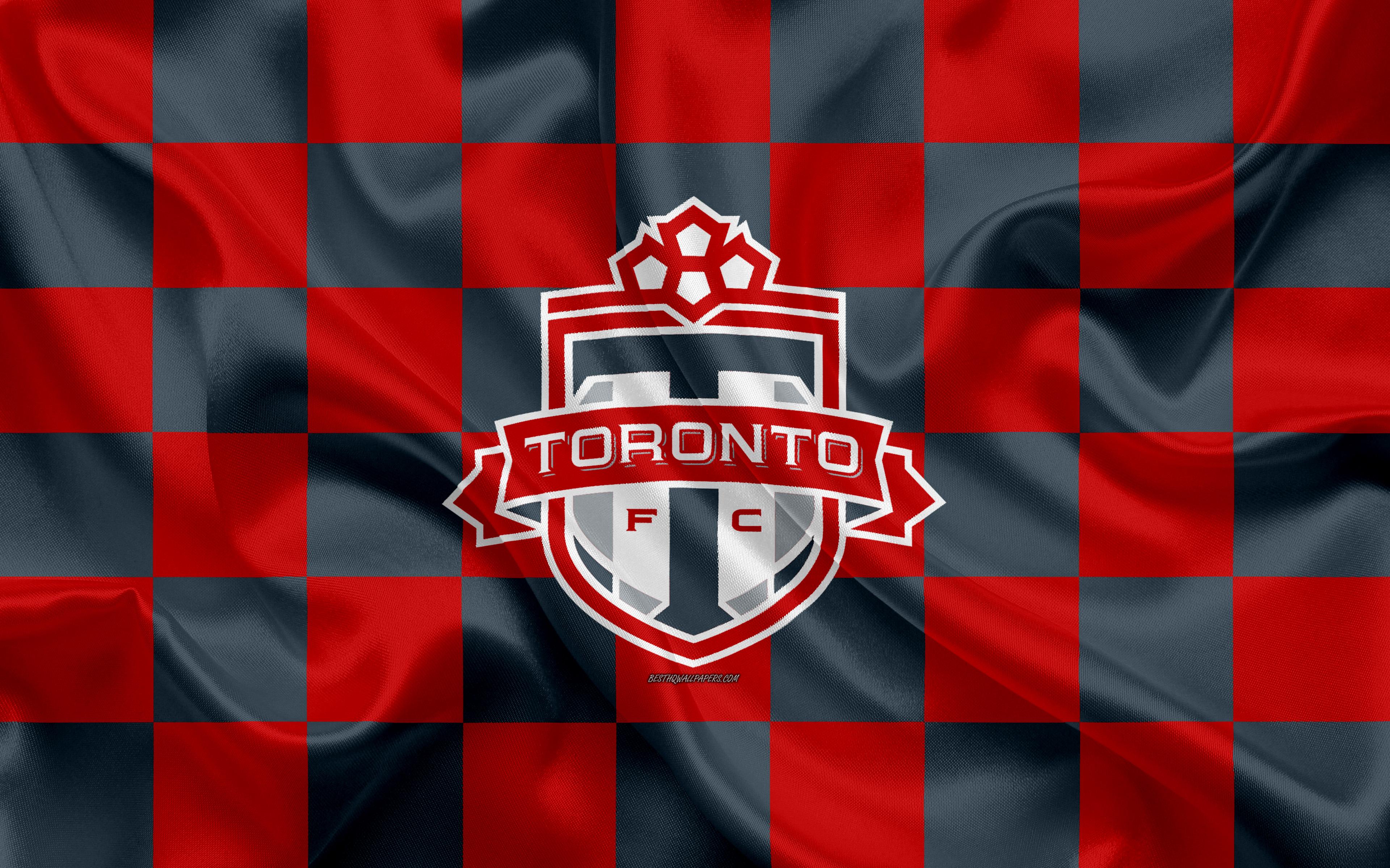 Download wallpapers Toronto FC 4k logo creative art red gray 3840x2400