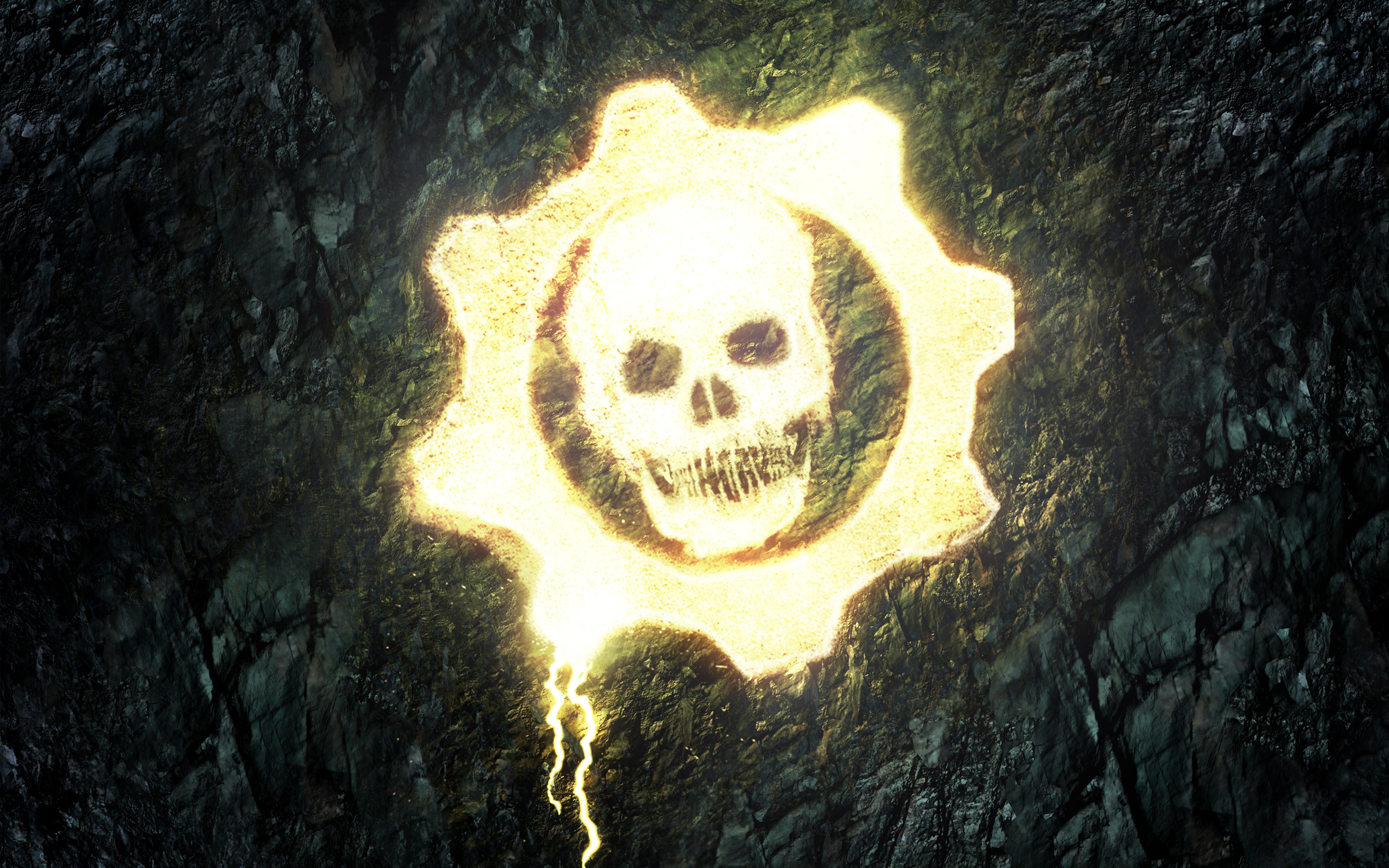 Free Download Gears Of War Skull Hd Wallpapers 2880x1800 For
