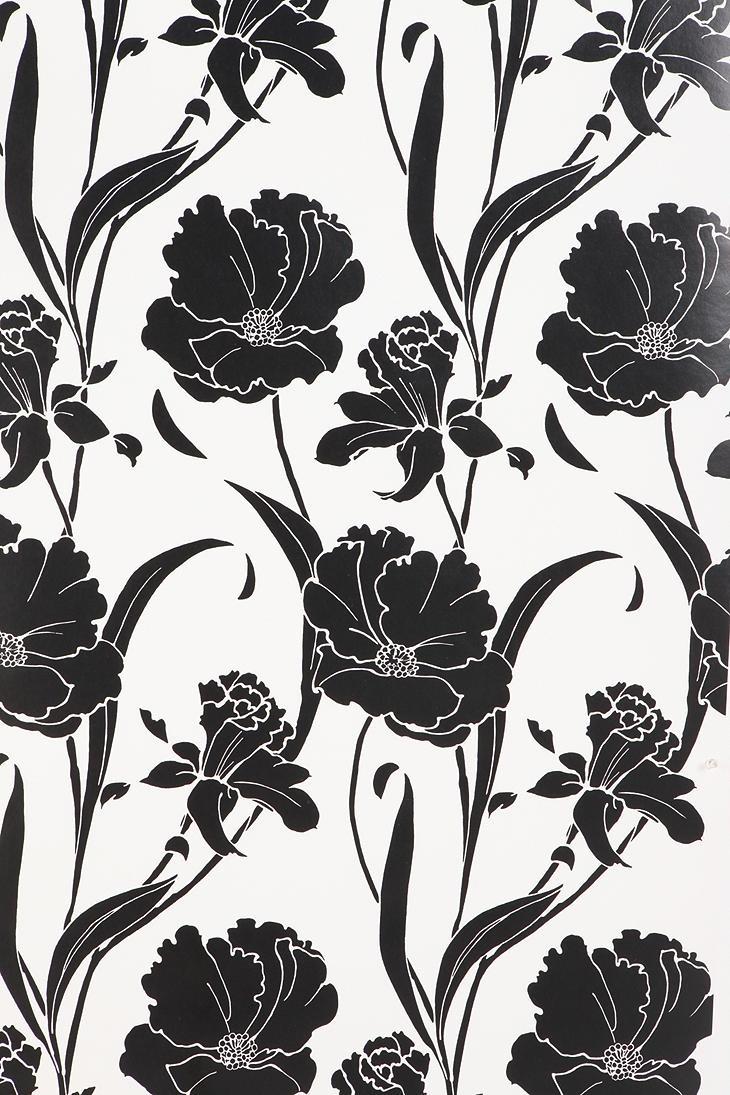 Free Download Bold Floral Wallpaper Art Illustration Pinterest