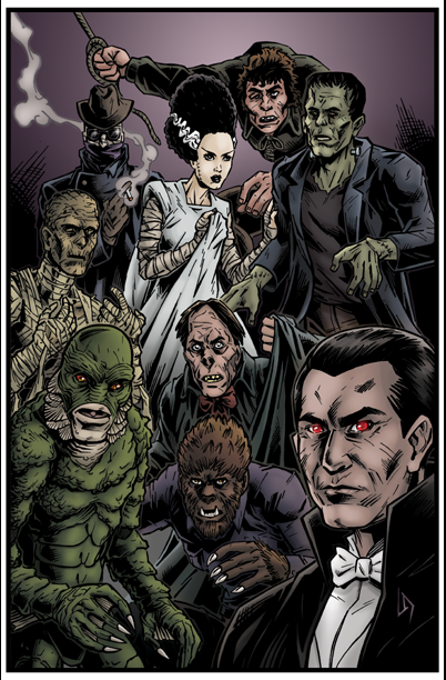 Universal Monsters by Tollbooth10 402x612