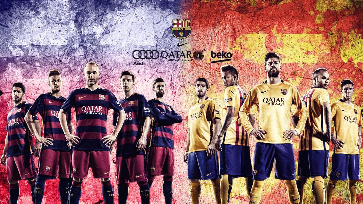 FC Barcelona 20152016 Wallpaper by RakaGFX 1191x670