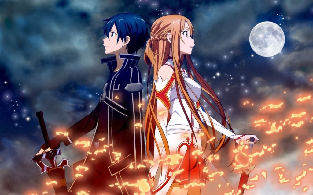 Kirito and Asuna HD Wallpapers Sword art online wallpaper Sword 1024x640
