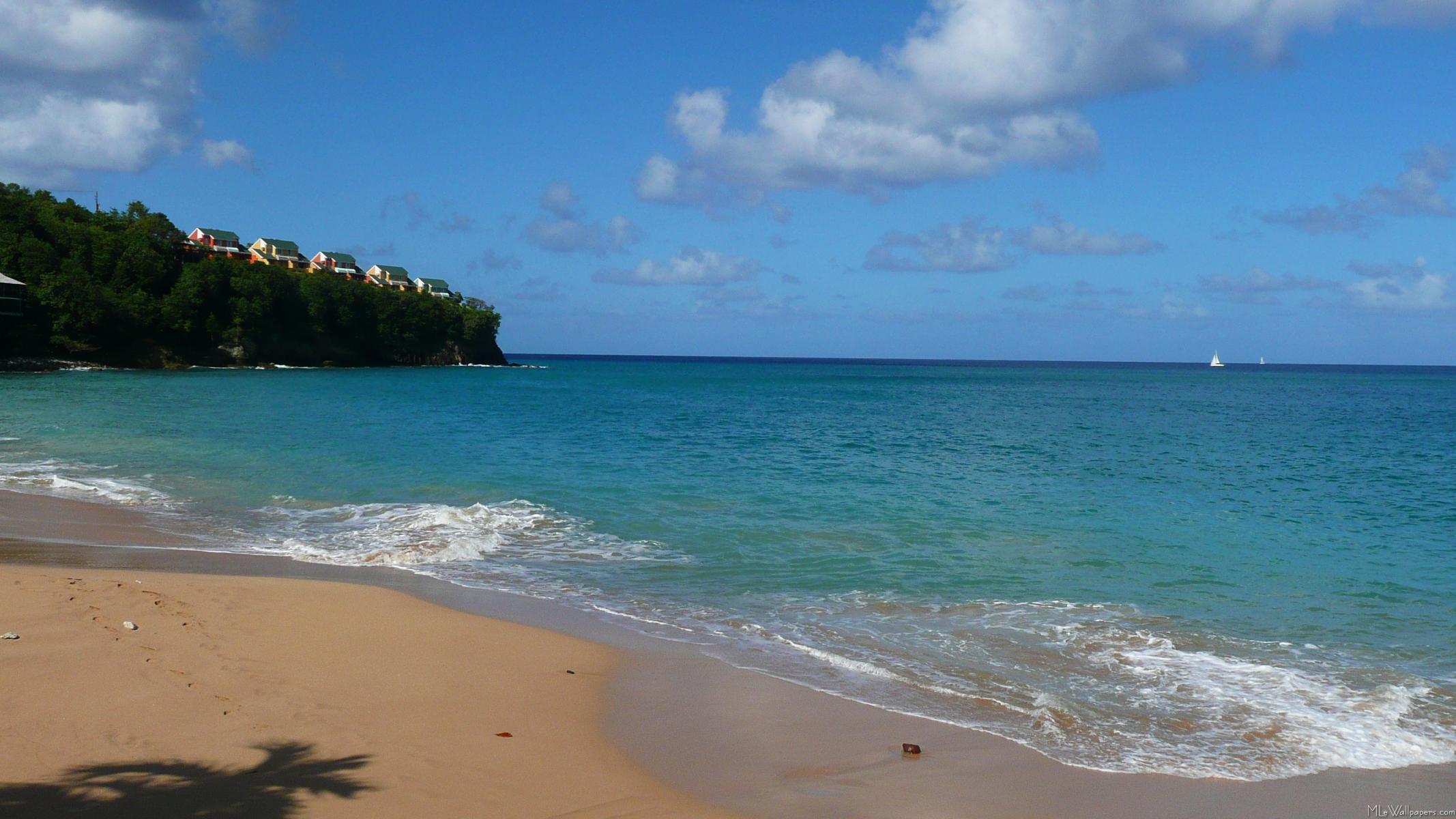 Saint Lucia Beach 2134x1200