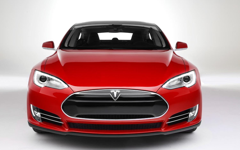 2013 Tesla Model S Red Wallpaper HD 1500x938