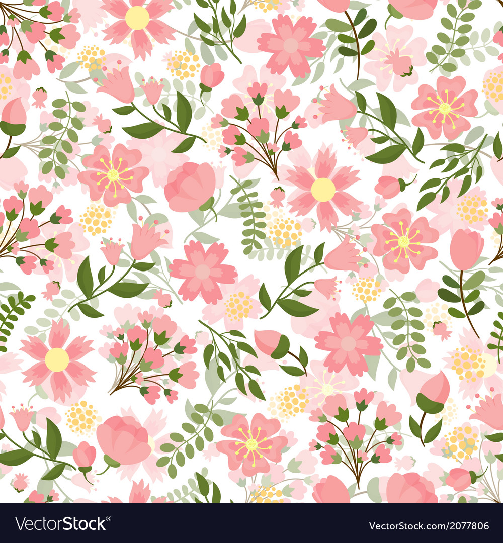 Seamless spring floral background Royalty Vector Image 1000x1080