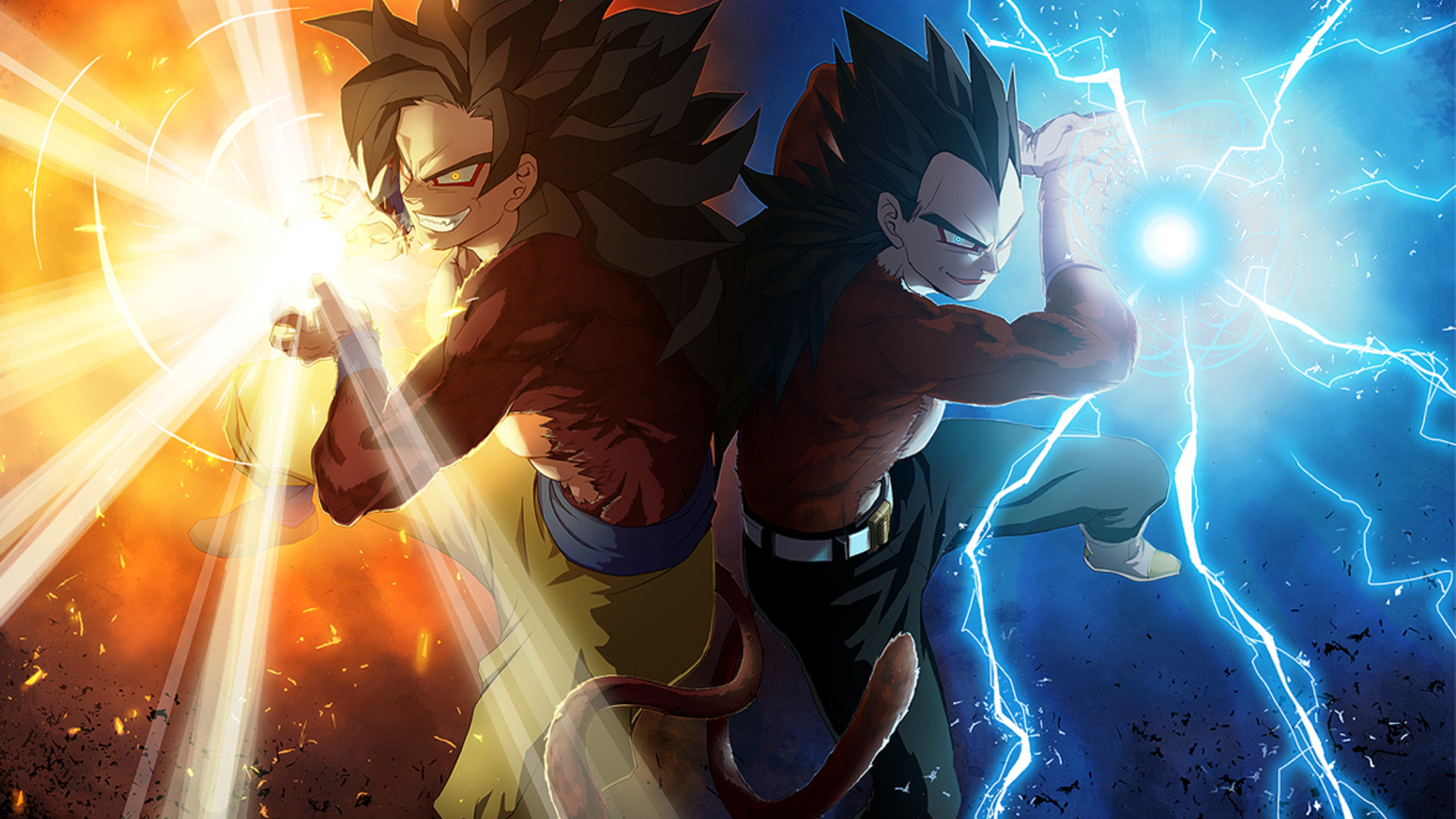 Goku amp Vageta   Dragon Ball Z Wallpaper 35525624 1920x1080