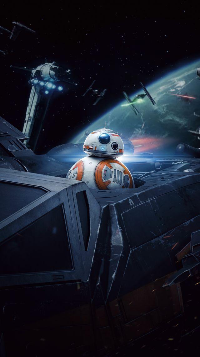 Wallpaper Star Wars The Last Jedi BB 8 5k Movies 16948 640x1138
