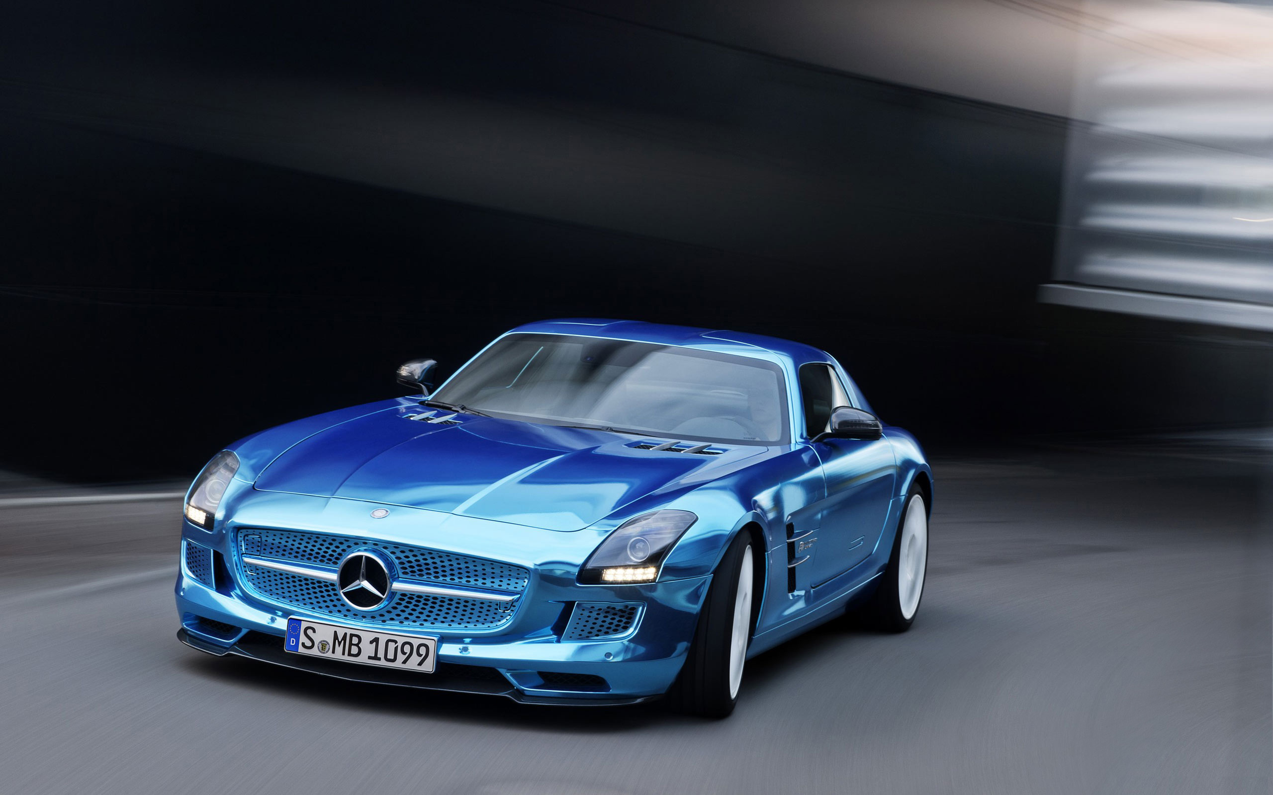 Mercedes Benz SLS AMG Coupe Electric Wallpaper HD Car Wallpapers 2560x1600