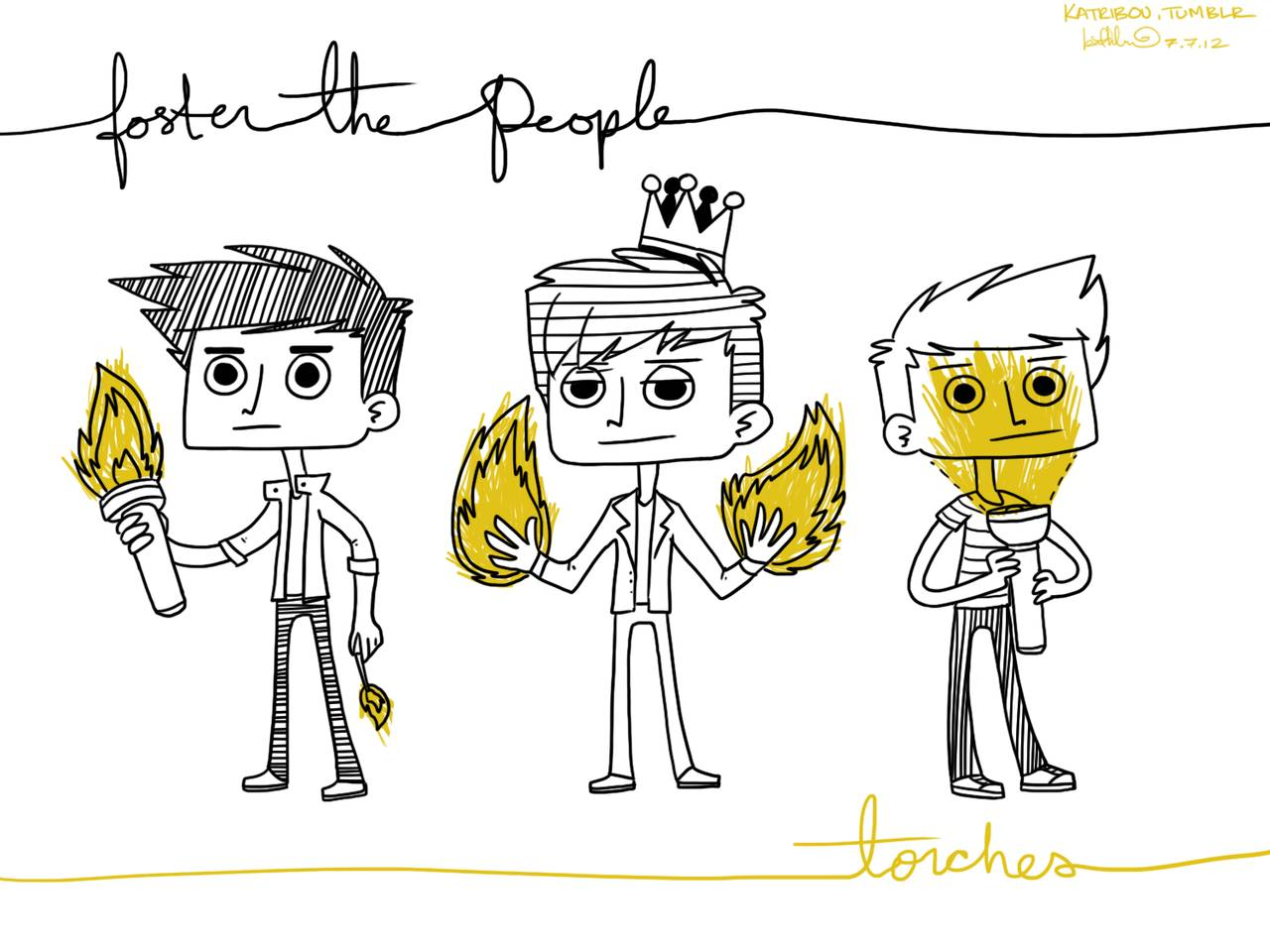 Group Of Torches Foster The People Wallpaper