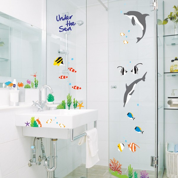 Details about Removable Wall Glass Sticker Wallpaper Bathroom Decal 600x599