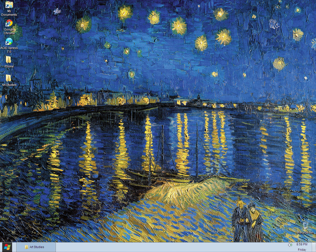 starry night over the rhone wallpaper wallpapersafari