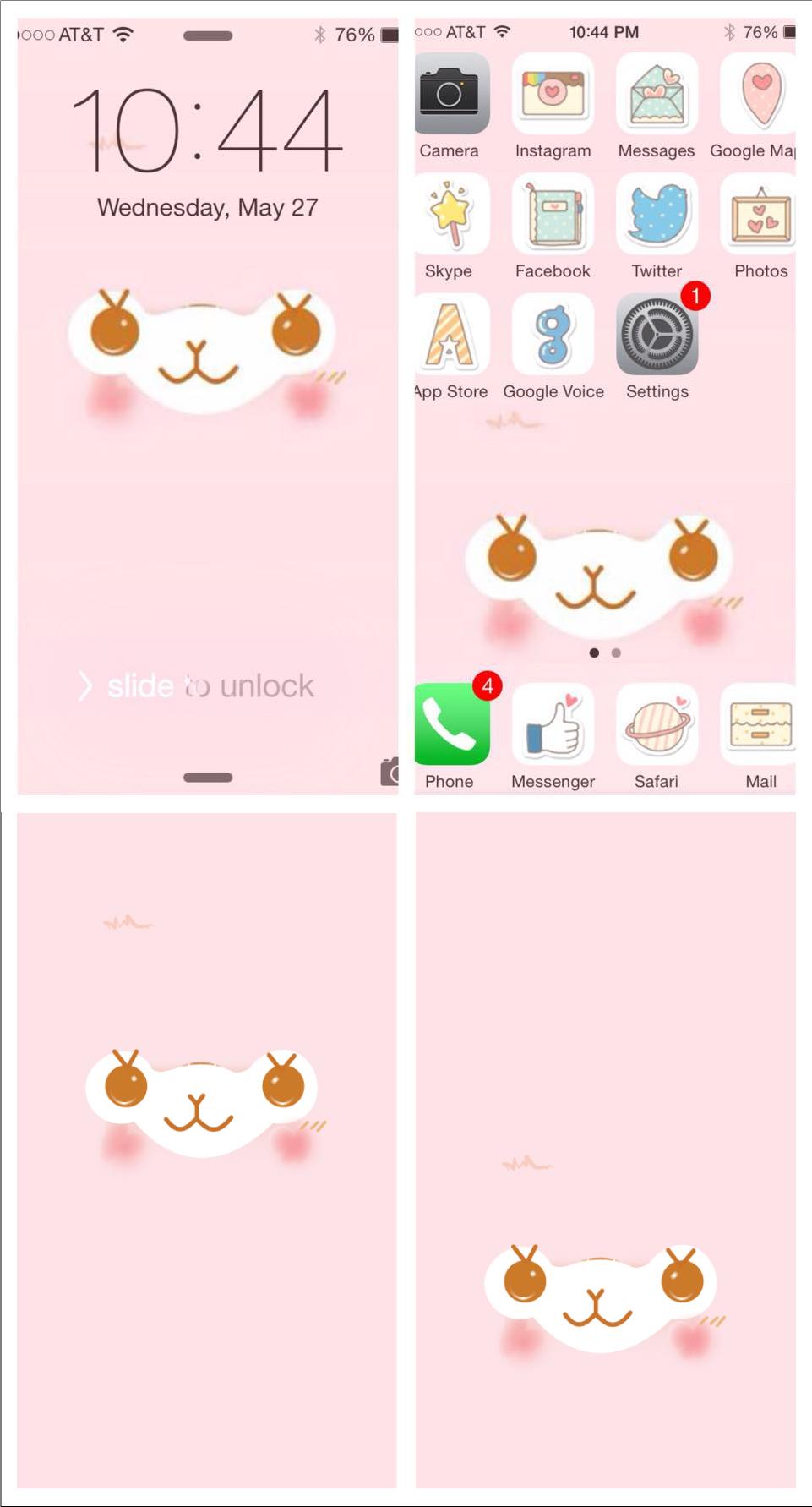 Alpacasso Facial Mobile Wallpaper PINK by JellysFancy 961x1783