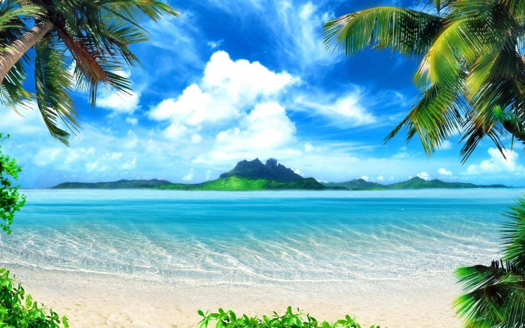 Hd Tropical Island Beach Paradise Wallpapers And Backgrounds: HD Tropical Wallpaper 1680x1050