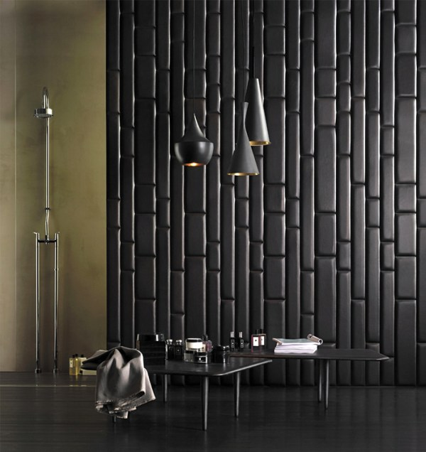 This wall covering is so rich cant you feel the supple leather 600x636