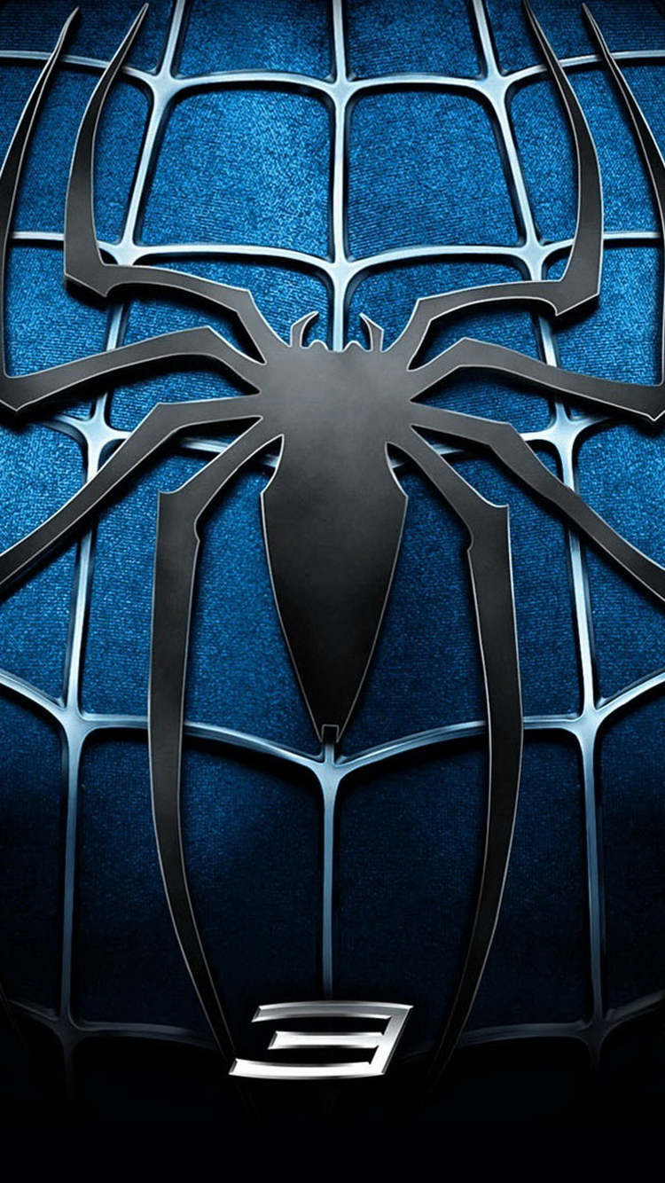 Spider Man 3 Blue Chest Logo iPhone 6 Wallpaper iPod Wallpaper HD 750x1334