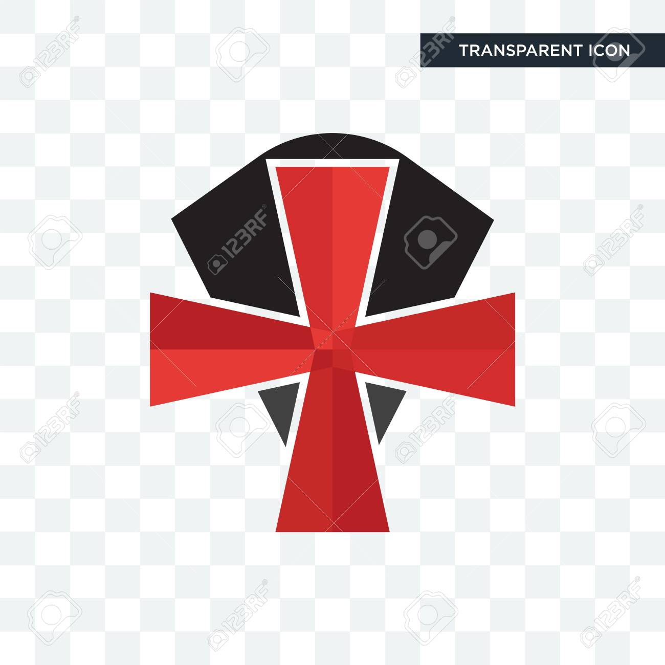 Knights Templar Vector Icon Isolated On Transparent Background 1300x1300