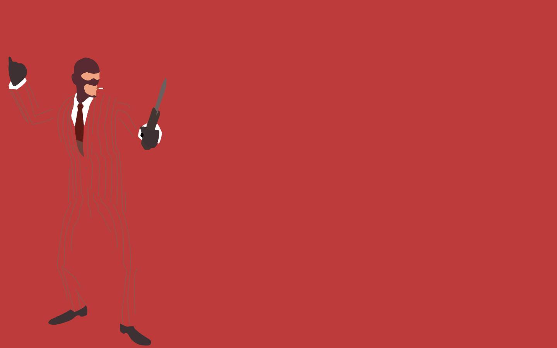 TF2 Red Spy Minimalist Wallpaper by bohitargep 1440x900