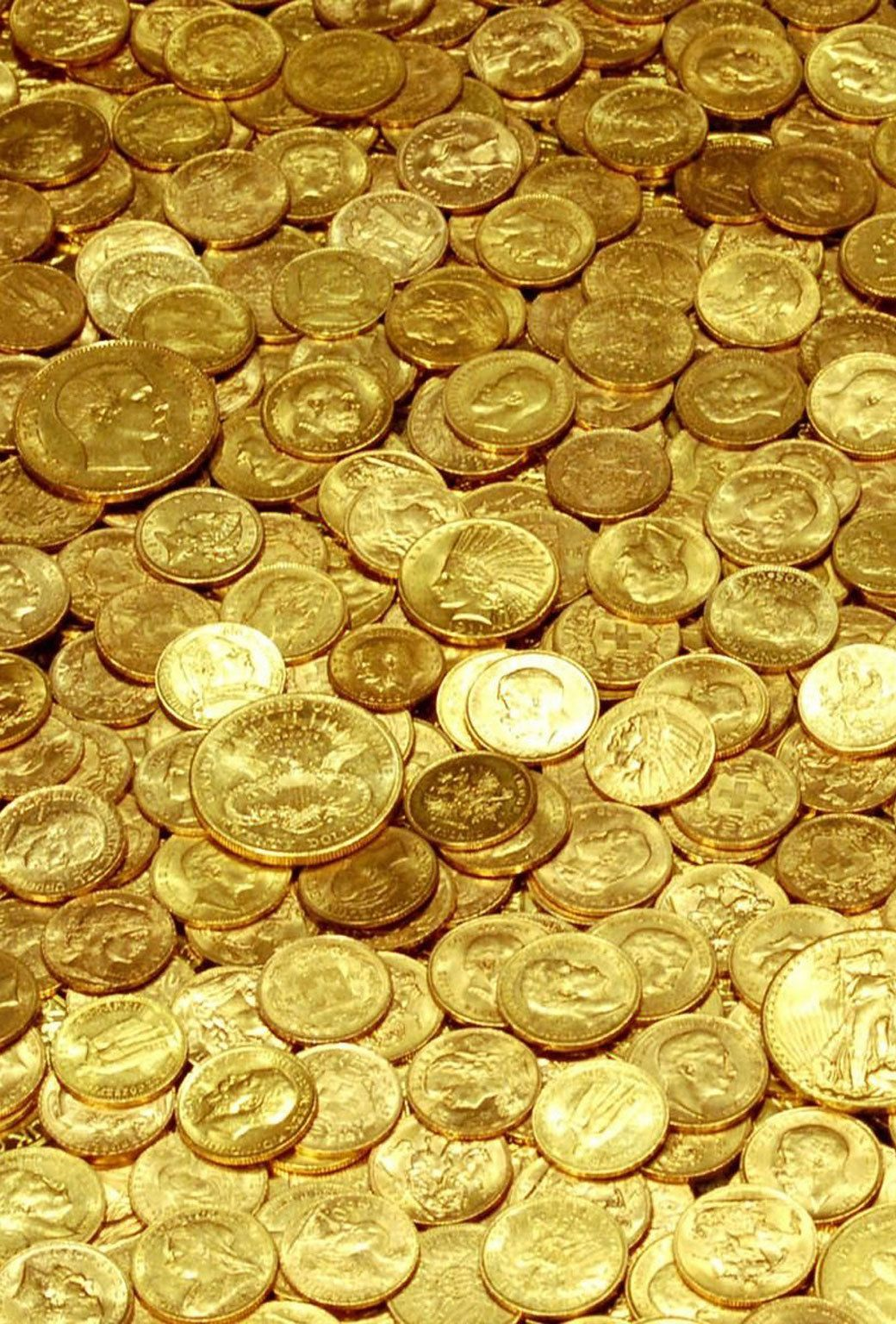 Wallpaper Money And Gold 1040x1536