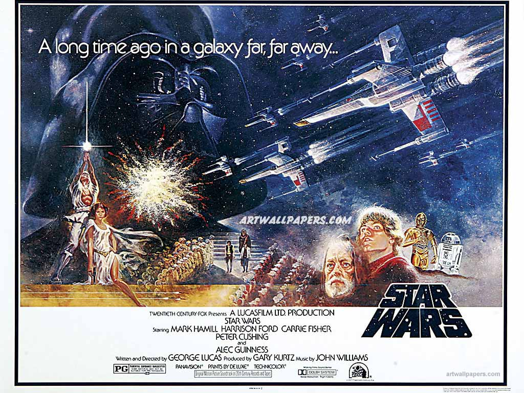 Star Wars A New Hope Poster Wallpaper Backgrounds Images Pictures 1024x768