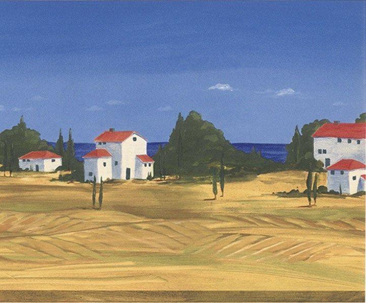 Tuscan Landscape Wallpaper Border PE634B eBay 720x596
