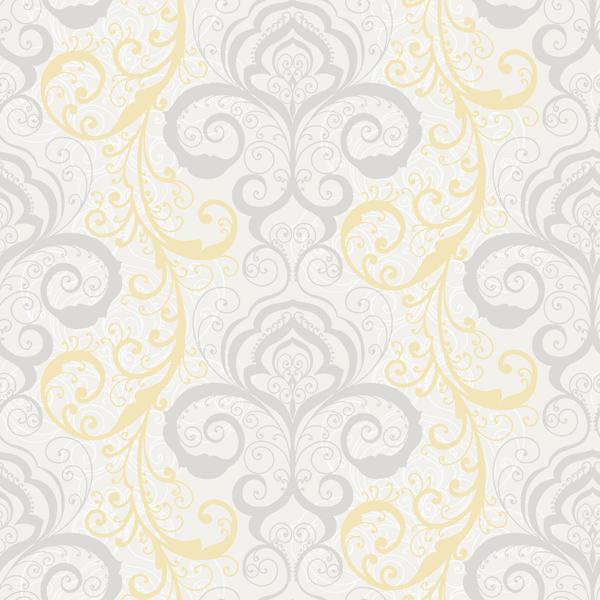White Henna Brocade   Vanessa   Christel Wallpaper by Chesapeake 600x600